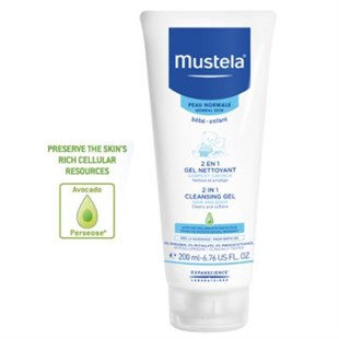 Mustela 2in1 Hair and Body Cleansing Gel 200ml - Saç ve Vücut Şampuanı
